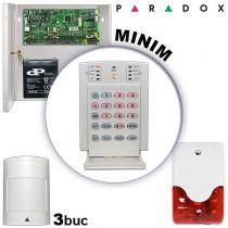 Sistem alarma cablat pentru apartamente PARADOX MINIM