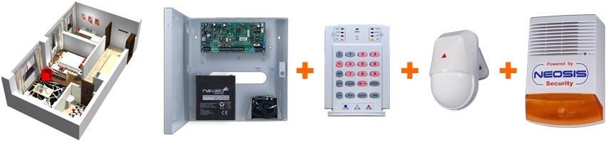 Sisteme alarma pentru garsoniere: Paradox, cablate