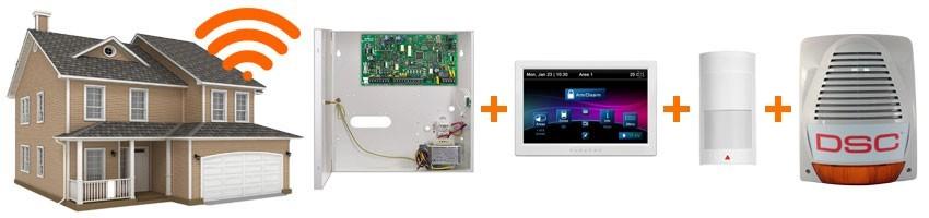Sisteme alarma radio/wireless pentru vile